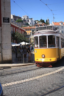 Électrico or tram 28 in Lisboa