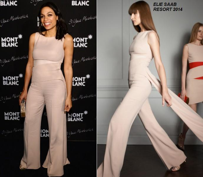 Rosario Dawson In Elie Saab At The Montblanc Celebrates 90 Years Of