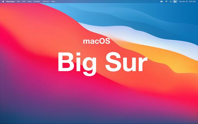 macOS Big Sur color image