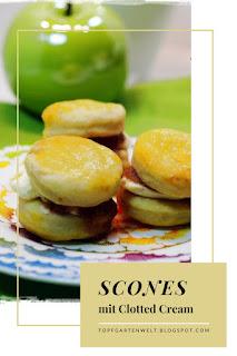 {Buchrezension mit Rezept} Scones mit Clotted Cream #scones #sconesmitclottedcream #englischeküche #englischesteegebäck #teegebäck #backen #england - Foodblog Topfgartenwelt