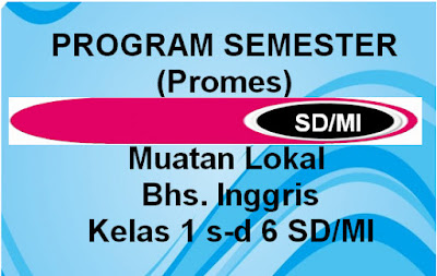 Program Semester Bahasa Inggris Kurikulum 2013 SD/MI