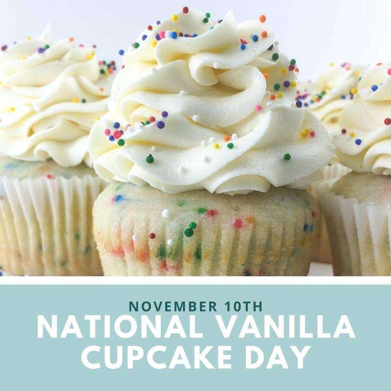 National Vanilla Cupcake Day Wishes Photos