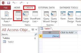 Datasheet view table