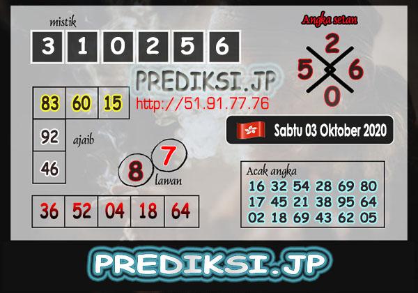 Prediksi JP HK Sabtu 03 oktober 2020
