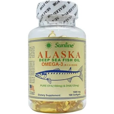 Sunline Alaska Deep Sea Fish Oil, 100 softgels