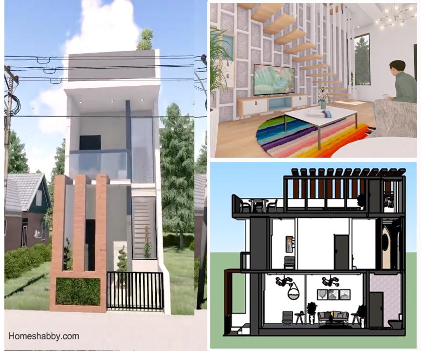Desain Dan Denah Rumah Sultan Di Lahan Sempit Ukuran 3 X 10 M 3 Lantai Lengkap Dengan Rooftop Garden Homeshabby Com Design Home Plans Home Decorating And Interior Design