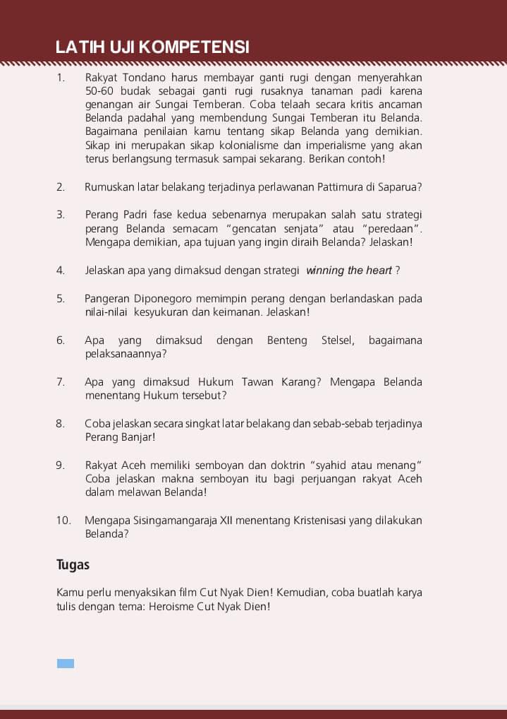 Kunci Jawaban Sejarah Indonesia Kelas 10 Guru Galeri
