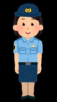 警察官のイラスト(シャツ・スカート・若い女性)