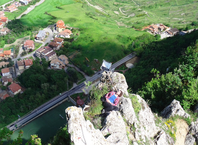 Rock Cliff Sleeping from a Height in San Marino