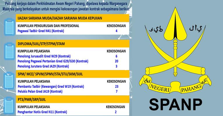 Jawatan Kosong di Suruhanjaya Perkhidmatan Awam Negeri Pahang SPANP