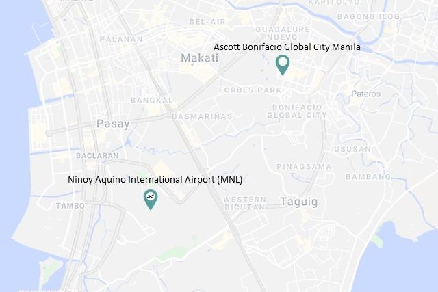 Location of Ascott Bonifacio Global City Manila via Google Maps