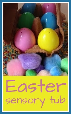 Easter themed sensory tub