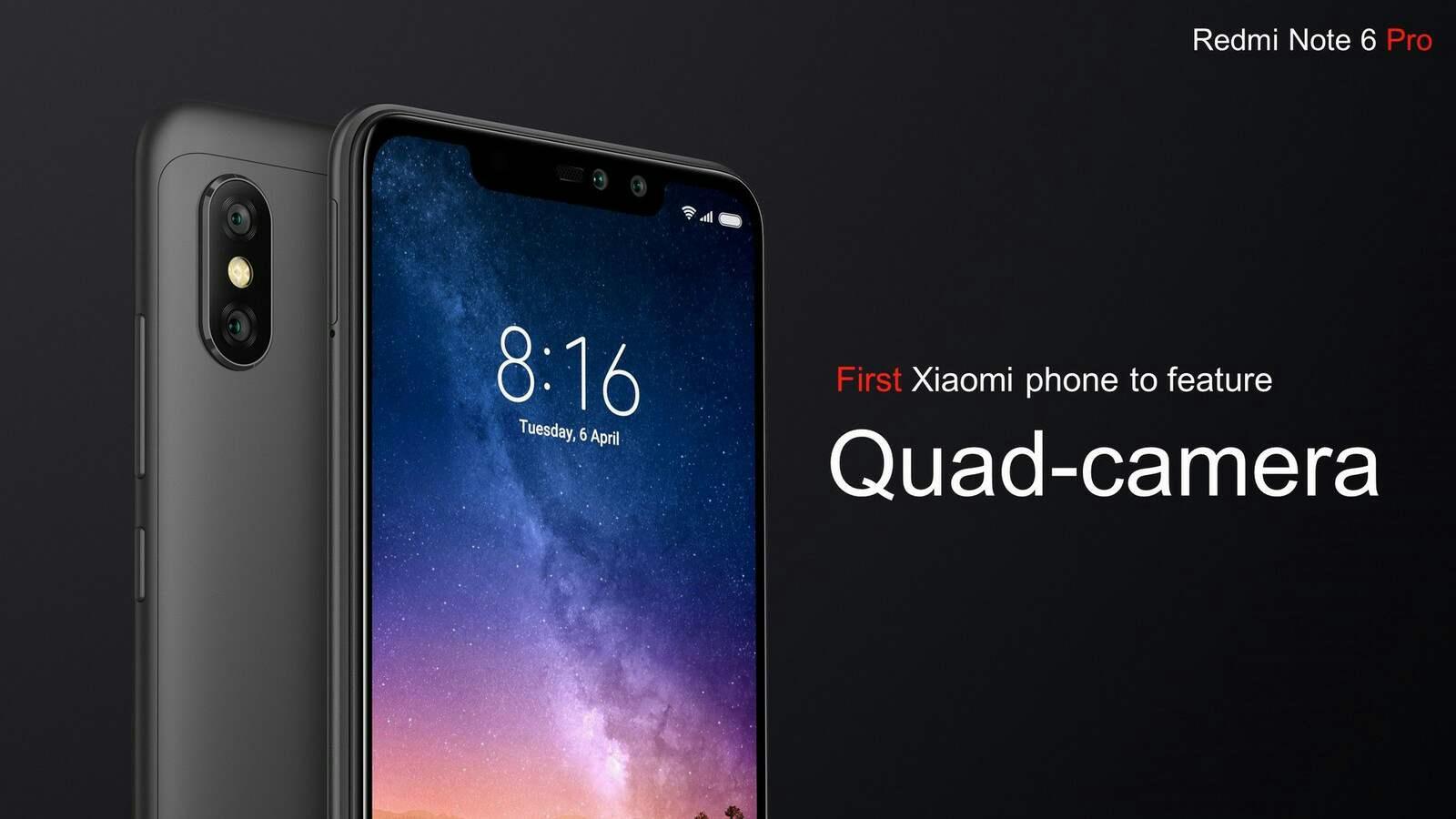 Redmi Note 6 Pro with Quad Cameras
