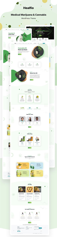 Healfio - Medical Marijuana & Coffee shop WordPress Theme