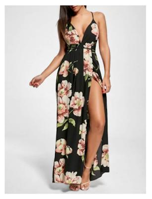 Vestido con estampado floral de tirantes