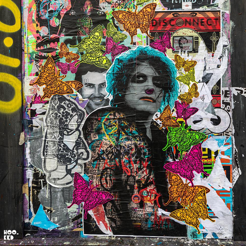 Artist Postman - Street Art paste-ups, Buxton Street