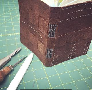 Crossed Structue Binding by Jody Alexander of Wishi Washi Studio