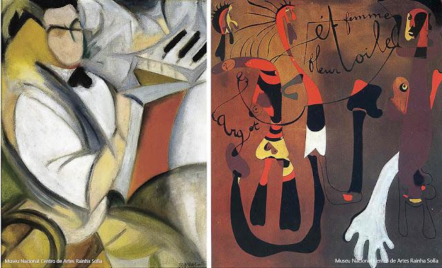 Obras de Miró e de Rafael Barradas no Centro de Artes Reina Sofia, Madri
