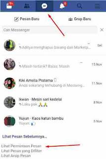Cara Melihat Permintaan Pesan di Messenger