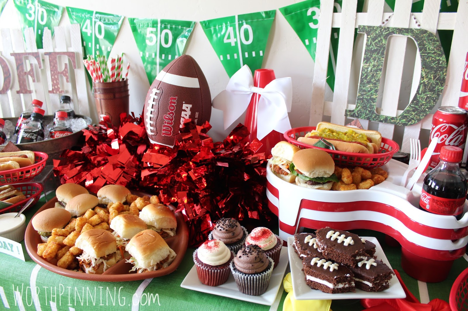 Worth Pinning Football Game Day Watch Party