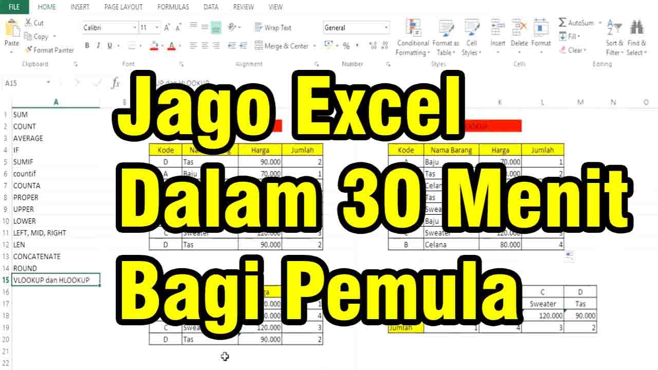 Rumus Dasar Excel Bagi Pemula