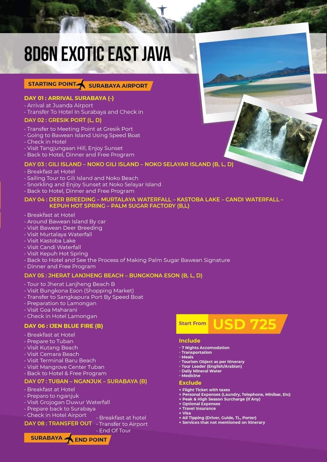 paket wisata exotic jawa timur