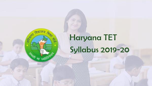 HTET Syllabus 2019 for PRT, TGT, PGT Level 1, 2, 3: in Hindi
