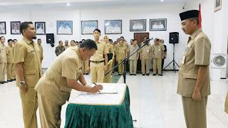 PJ  Sekda Berharap Pejabat Baru Segera Menyesuaikan Diri