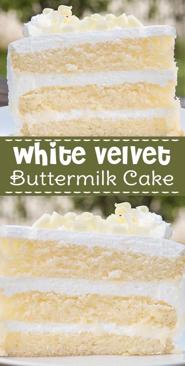 White #Velvet #Buttermilk #Cake #recipe #comfortfood
