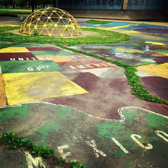 Playground map in the Mexican War Streets Neighborhood of Pittsburgh