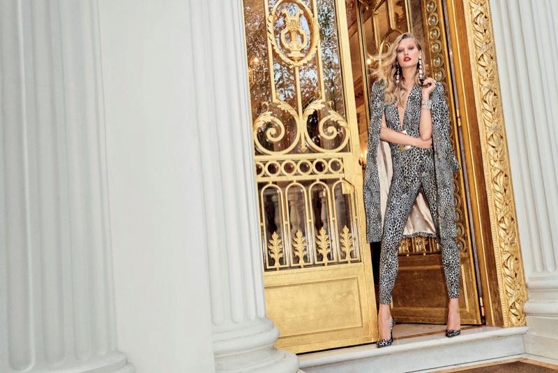 Toni Garrn rocks bold animal print in Elisabetta Franchi's spring-summer 2017 campaign