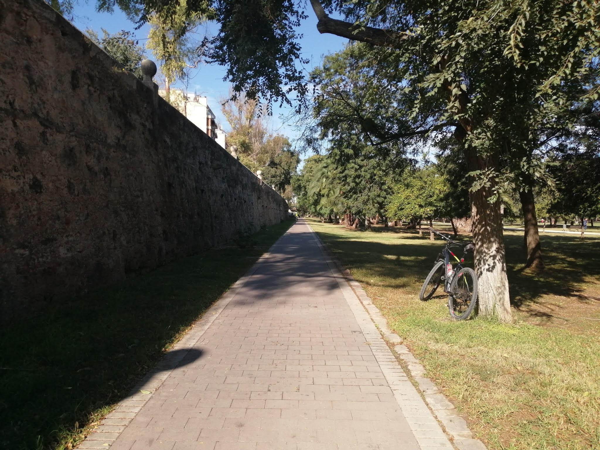 The River Turia Gardens in Valencia, Spain