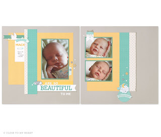 CTMH Georgie Baby Scrapbook Layouts