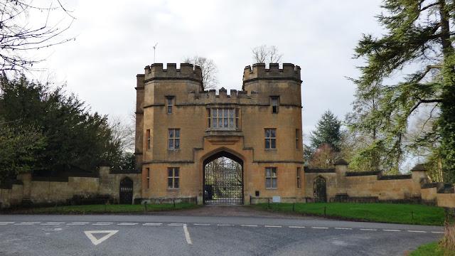 A castle-like entrance to Sudeley Castle - Costwolds