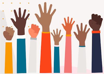 BIPOC Hands Raised
