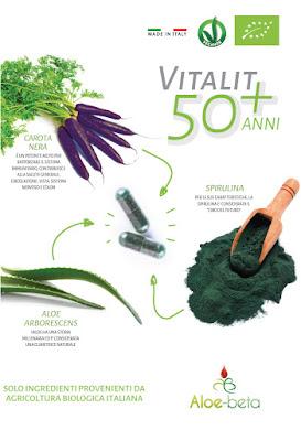 Vitalit 50 + anni integratore alimentare biologico a base di spirulina