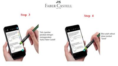 cara memakai stylus pen faber castel paket belajar online untuk pjj dan ptm