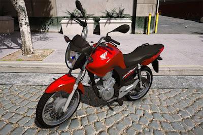 Download mod moto , Honda CG Start 160 para GTA 5, Jogo GTA V PC
