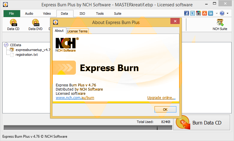 Express Burn Plus 4.76