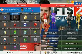 FTS 21 Shopee Liga 1 Indonesia & Full Kompetisi Eropa 2020/2021