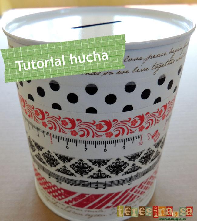 Tutorial Hucha + Washi-Tape