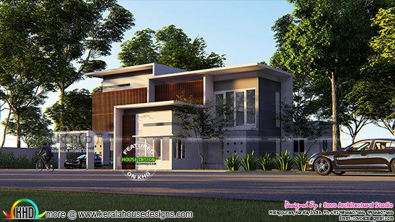Flat roof modern style 5 bedroom home 2950 sq-ft