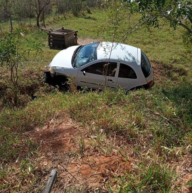 Mulher sai ilesa de acidente na vicinal que liga Adamantina à Lucélia