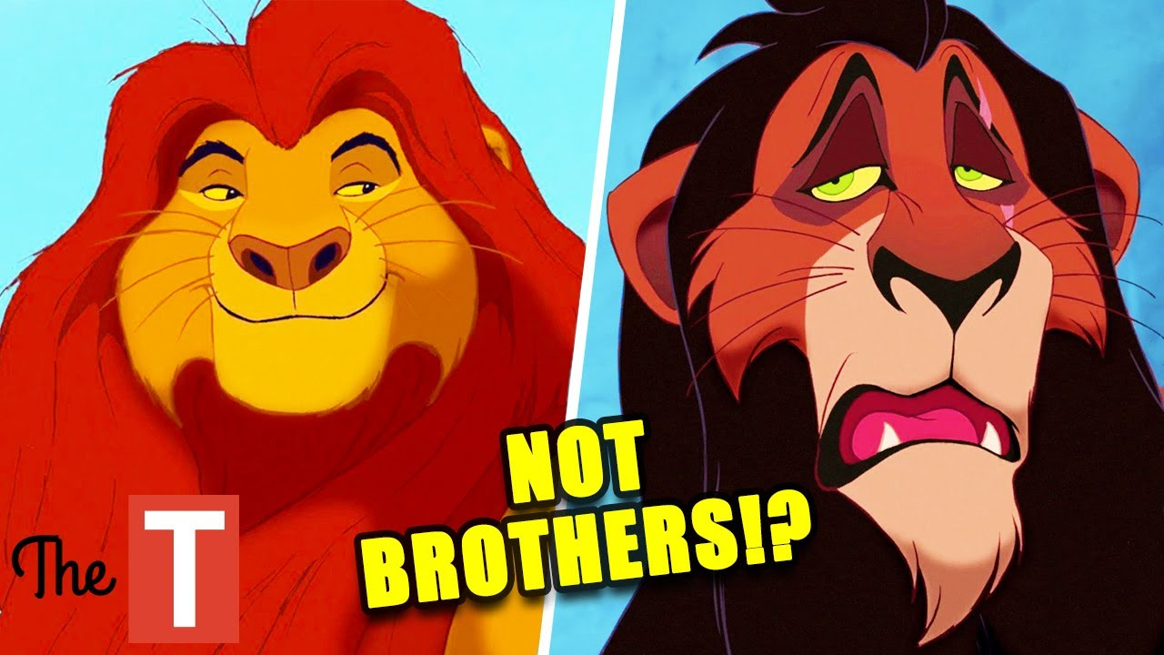 The lion king: Scar and Mufasa are not true brothers and we have to accept it
