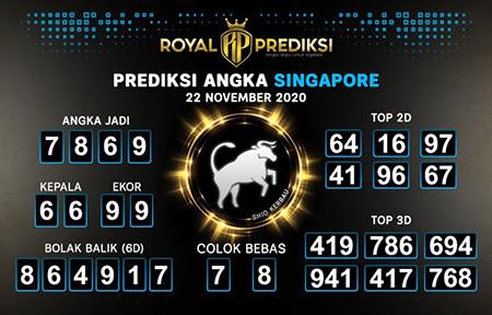 Royal Prediksi SGP Minggu 22 November 2020