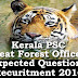 Kerala PSC - Expected Questions for Beat Forest Officer 2016 - 17