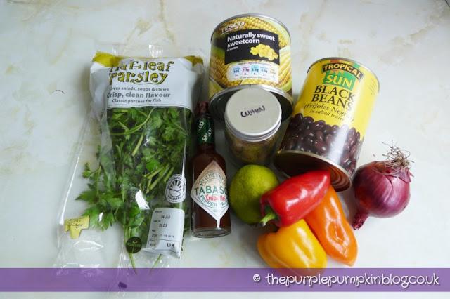 Blackbean, Sweetcorn and Avocado Salsa at The Purple Pumpkin Blog