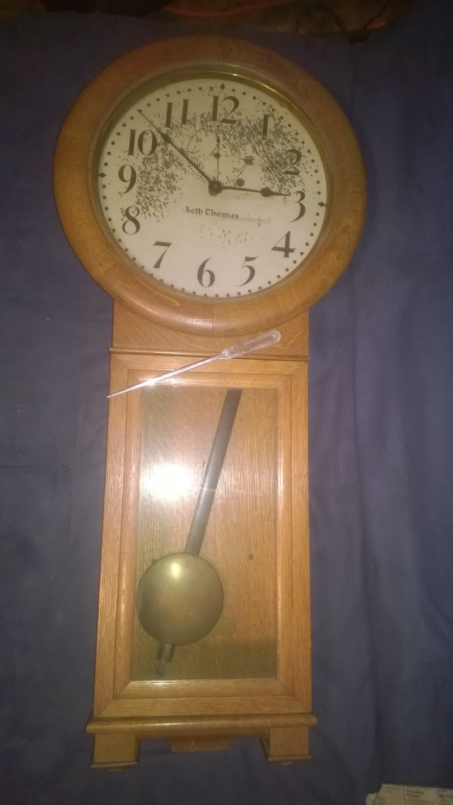 Mikes clock repair suspension spring was broken pivot holes were warn broken weight cable and the pendulum bob needed a little polish the clock was missing the weight amipublicfo Choice Image