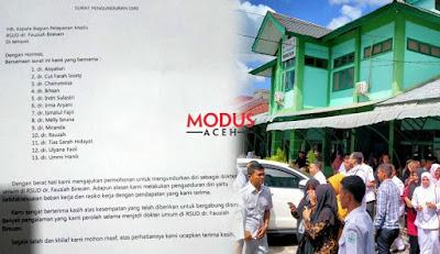 Surat Pengunduran Diri 13 Dokter Umum di RSUD dr. Fauziah Bireuen