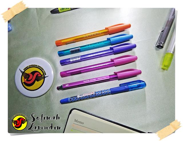 Koleksi Alat Tulis | Ball Pen Untuk Menulis Nota Atau Mencatat | Review dan Kelebihan Ball Point Pen Mengikut Jenama Alat Tulis - Paper Mate Inkjoy